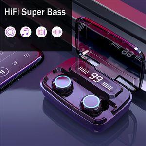 Es cierto M11 Wireless Auriculares Bluetooth 5.0 TWS auriculares HD LLAMADA Auriculares estéreo con cancelación de ruido auriculares inalámbricos Sprot en el teléfono del oído