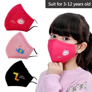 Respirator New Cotton Child Kid Masks N95 Filter Activated Carbon Breathable Non Woven Fabric Mask Anti Dust Mouth Masksg yuui