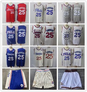 Men Youth Kids 2020 Philadelphia76ersJersey 25# Ben Simmons New Season S-XXL Basketball Jersey Sports cheap