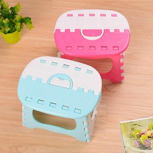 Folding Stools Multi-color Outdoor Portable Folding Plastic Stool Bathroom Taboret Handheld Kids Furniture Cute Creative Sturdy Support