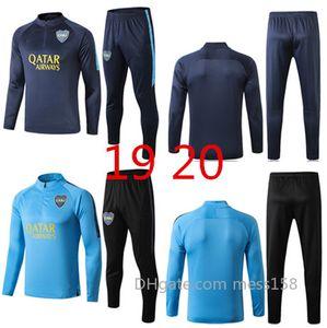 19 20 Hochwertige Boca Juniors Fußballtraining lange Hülse Fußballtrainingsanzug Boca Thai Qualität Sportswear Männer