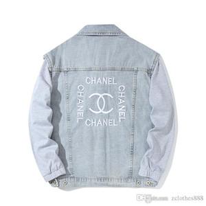 2020 Mens Designer Jackets Mens Hot Sale Designer Jackets PBCLO Denim lavagem Jacket Vintage Masculino letra impressa solto blusão