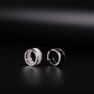 Bulgar Moda Charm Ring Ring, Takı Hediye ile Siyah Ve Beyaz Yüzük Erkek Bayan Çift Düğün