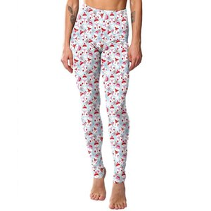 Womens High Waisted Leggings Cute Cartoon Christmas Snowman Printed Pants High Quality and Brand New