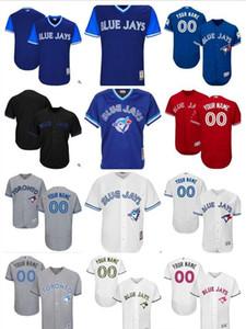 2019 personalizada las mujeres de los hombres jóvenes Azulejos Jersey personalizado # 00 Cualquier Su nombre y número Inicio Blanco Azul jerseys del béisbol