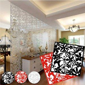 4pcs Colgando Modern Screen flores hueco tabique de partición de bricolaje Home Decor