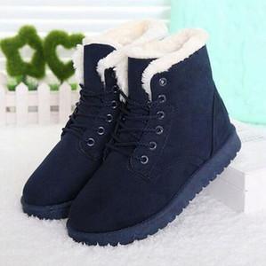 Designer- Ladies Cotton Winter Boots Women Warm Fur Women Shoes Winter Women Boots Lace Up