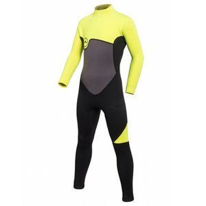 Kids Swimsuit 2mm Neoprene Back Zip Full Body Long Sleeve Wetsuit Diving for Boys Girls Swimming Surfing Snorkeling Suits