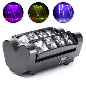 LED Moving Head Light Mini Araignée lumière de disco 8x3W RGBW 4 couleurs lumières LED DMX512 Portable Stage Light