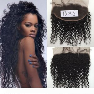 A 13x6 Lace Frontal Closure with Baby Hair Indian Virgin Hair Deep curly Human Hair Lace Closure Ear to Ear Swiss Lace Closure