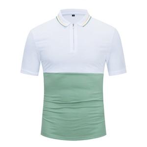 Mens Designer t shirts Clothes Turnn-down Collar polo shirt t shirts snake polos mens High street fashion hip hop front zipper polo T-
