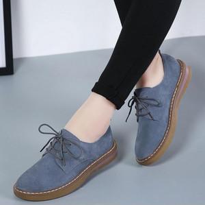 Kadınlar Günlük Ayakkabılar Gerçek Deri Dantel Lastik Sole loafer'lar kadar rahat mokasen Kadınlar Retro babet ayakkabılar zapatos mujer