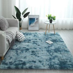 Градиент сплошной ковер толще ковры Нескользящий коврик ванная комната коврик для гостиной мягкий пушистый детская спальня коврики розовый alfombra