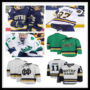 NCAA College Hockey ND Jersey Anders Lee Jake Evans Tory Cal Burke Dello Cale Morris Cal Petersen Bryan Rust Steven Fogarty de coutume hommes