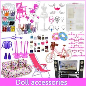 Mix Süße Puppe Möbel Pretend Aufhänger TV Sofa Schuhe Rack für Barbie Dollhouse Zubehör Mädchen Spielzeug Spielzeug