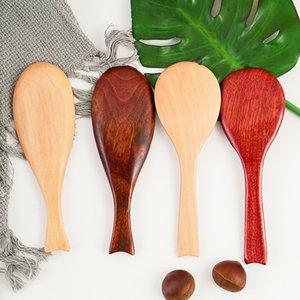 Holz Reis Löffel Fisch-Form Non Stick Reis Paddel aus Holz Mahlzeit Löffel Home Küche Essen Bestecke