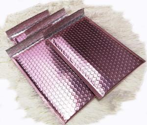 Or rose Bubble enveloppent métallisé Feuille d'or Rose Bubble Mailer pour l'emballage cadeau, sac Faveur de mariage Livraison gratuite