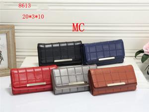 Tri-Fold Schnalle Mode Dünne Duft gewebt hausgemachte Tasche Kupplung Samt Designer Tasche Gitter Kleines Material Kit Französisch Gitter Lange Brieftasche IACLO