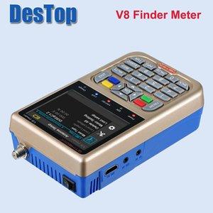 Freeshipping V8 Finder Meter DVB-S2 DVB-S FTA Digital Satellite SatFinder HD Satellite Finder Tool LCD Sat Finder lnb Signal Meter
