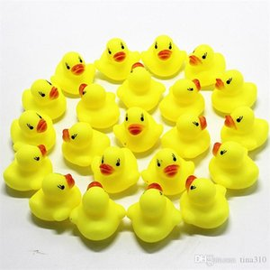 New Baby Bath Toy Sound Rattle Children Infant Mini Rubber Duck Swimming Bathe Gifts Race Squeaky Duck Swimming Pool Fun Playing Toy I149