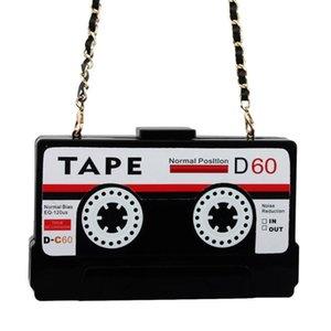 Акриловых сумки аудиокассеты мешок вечера прозрачного сцепления жестких коробки сцепление высокого класс мешок рука междусобойчик кошелек сумка кошелек