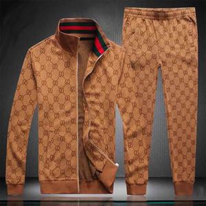 Sıcak Yeni tasarım erkek spor harfler lüks rahat takım elbise + pantolon ilkbahar ve sonbahar fermuar elbise spor spor siyah gri Y15 çalışan