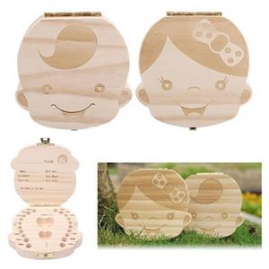 Baby-Tooth-Kasten-Speicher für Kinder speichern Milchzähne Jungen Mädchen Bild Hölzerne Organisator Milchzähne Kästen kreative Geschenke Kind Travel Kit 2020