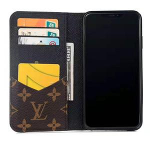 Designer de luxo Telefone Carteira caso do iPhone para 11 Pro XR XS Max X 7 8 Plus casos com cartão bolsa saco