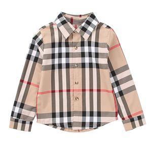 Mädchen-Kleidung Designer Kariertes Hemd Plaid Shirt Lape Kinder Luxus-Designerkleidung für Mädchen Big Boys Kinderkleidung