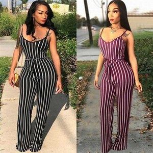 Fashion Women Clubwear Pants Summer Playsuit Bodycon Party Jumpsuit Sexy Striped Romper Trousers New 2020