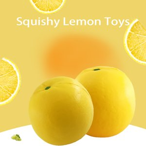 Simulation Fruit Lemon Squishy Toys PU Slow Rebound Squeeze Stress Relief Toy For Children Kids Gift
