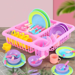 21 Pcs set Children Play Pretend Toys Kitchen Cooking Tableware Playset Sink Dishes Play House Early Learning Toys