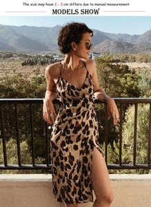 Womens Leopard Spaghetti Strap Dress Ladies Casual Print Strappy Beach Summer Dress Lady V-Neck Holiday Party New