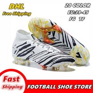 Alta ayuda zapatos de fútbol zapatos de patín FG-uñas botas de fútbol botas de fútbol del TF de los hombres de moda los zapatos de fútbol envío libre de botín de fútbol 007
