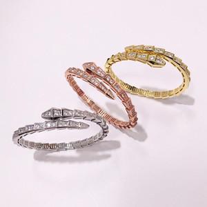 Фанки моды Модный Baojia Snake-образный Многосекторная Алмазный Открытый Braceletbangle для женщин