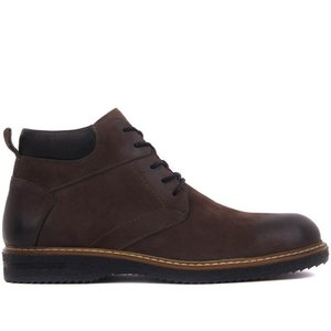 Sail Lakers-Anthracite Nubuck Lace-Up Men Boots