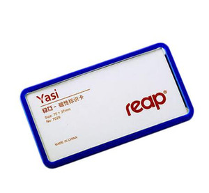 75x37mm Magnetic company student worker employee ID name card holder business identification card frame chest badge