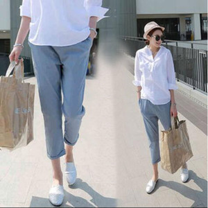 Spring Cotton Maternity Pants Clothes Summer Maternity Sports Pants For Pregnant Women Clothes Clothing Plus Size X126