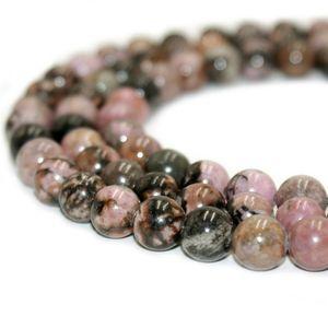Круглые бусины из натурального камня Родонит драгоценный камень яшма энергия камень свободные бусины для женщин браслет DIY ювелирные изделия 1 нить 4-10мм