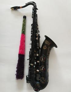 New Suzuk Tenor Saxophone B Musica piana Strumento di leccata Super Black Nichel Gold Gold Gold Regalo Dono Professionale con Boccale