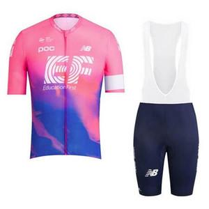 kısa kollu bisiklet gömlek önlük şort takım yaz nefes yarış bisiklet giyim Y022704 2019 Yeni Takım EF Education First Bisiklet Jersey erkekler