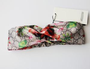 yeşil çiçekler mektuplar hummingbird erkek ve kadın kırmızı çiçekler için 2019 tasarımcı kafa bantları ipek baş bantları elastik saç bantları ücretsiz gemiyi Çapraz