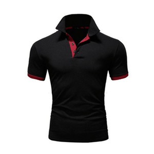 Fashion Designer Mens Polo 2020 nuovo di estate uomini di marca di polo respirabile Slim manica corta T Shirt 10 colori di formato S-5XL