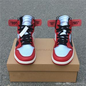 2020 Shoes mais novo Air 1 Blue alta OG Chicago Red UNC pó amarelo amarelo basquete masculino branco autêntico sneakers Com caixa