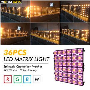 Düğün Konser Sahne LED Par Işık 36pcs Matrix Light RGBW 4in1 Sahne Aydınlatma DMX Par Işık
