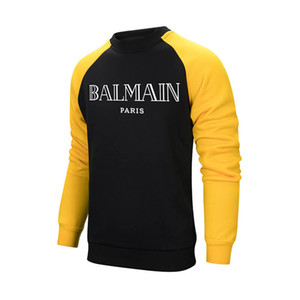 Balmain бренд Мужчины Женщины толстовка женские новые толстовки мужчины пара дизайнер толстовки топы мужчины BALMAIN одежда размер S-2XL