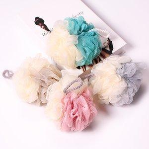Büyük İki renkli Naylon Banyo Ball Renk Eşleştirme Tasarım Yıkanma Sünger Hangable Kabarcık Net Banyo Çiçek Sünger Ball
