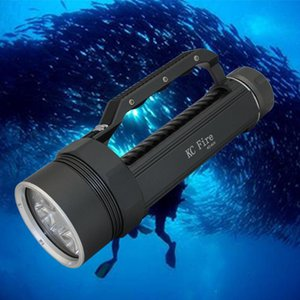 KC Fire 5000Lm Diving Flashlight 4 X UV Ultraviolet Light Waterproof Scuba Lamp LED Lantern Torch Underwater 100M 395nm Hunting Light