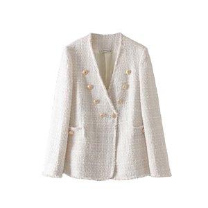 Liva girl Kadınlar Yün Karışımları Paltolar 2019 Sonbahar Kış Uzun Kollu Casual Boy Dış Giyim Ceketler Coat