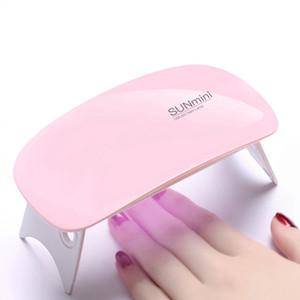 Portátil Mini Lámpara LED Secador de Uñas Carga USB Luz LED Uñas de Secado rápido Gel Manicure Para Nail Art 6W RRA850